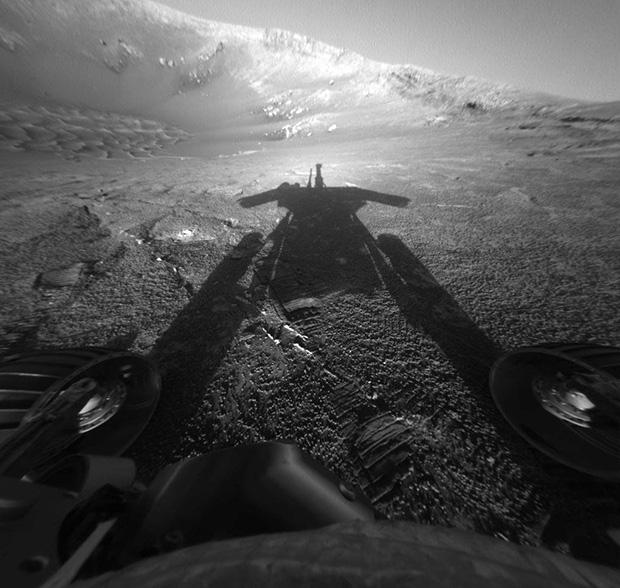 Марсоход NASA «Опотьюнити»  празднует 10 лет на Марсе!