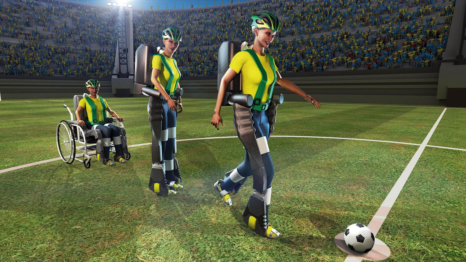 Первый удар по мячу на ЧМ 2014 по футболу сделает человек в экзоскелете!