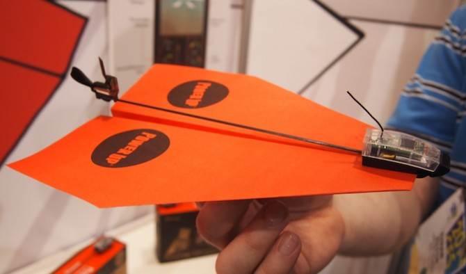 Невероятно симпатичный бумажный самолет с Bluetooth связью