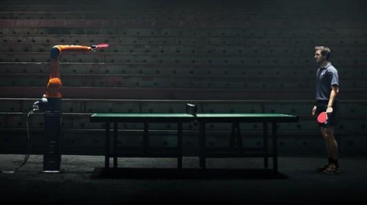 Настольный теннис: Человек против Робота!