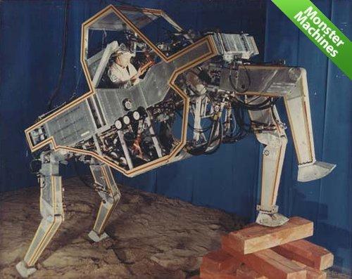 Динозавр среди четвероногих роботов:»Walking Truck» компании General Electric