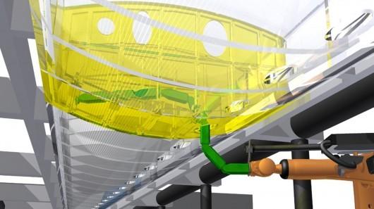 Роботы-змеи помогут в самолетостроении