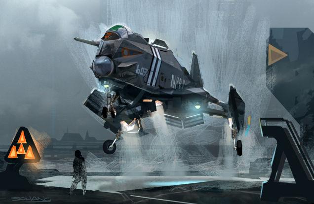 Фантастические авиалайнеры, люди и дизайн «Звездных Войн» от Стивена Ченга