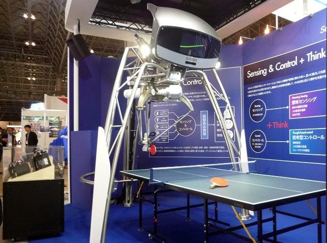 В Японии представлен робот для игры в пинг-понг