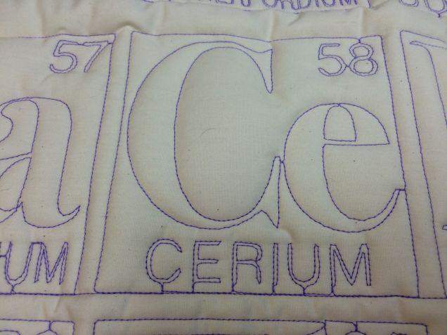 Лоскутное одеяло с изображением периодической системы химических элементов изготовил робот