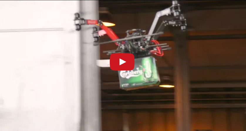 Доставка пива от Carlsberg с помощью дрона