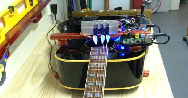 Самостоятельная игра робота на гитаре!