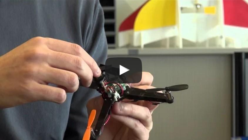 Складной дрон взлетает менее, чем за секунду