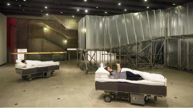 Ровинг – роботизированная кровать – лучший способ, чтобы ездить на работу, в то время как вы спите!