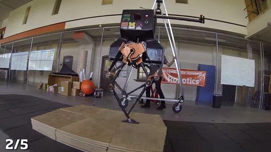 Робот ATRIAS преодолевает препятствия вслепую