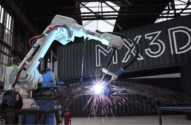 3D принтер построит мост через канал в Амстердаме