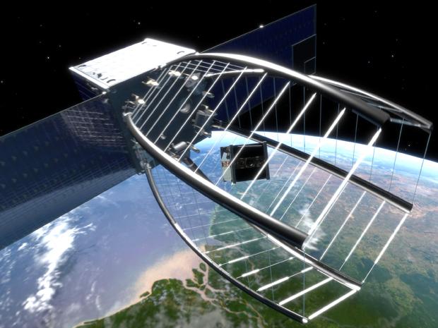 Швейцарский Пэкмэн для поглощения космического мусора в 2018 г.