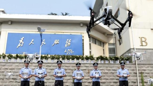 Первый отряд полицейских дронов в Китае