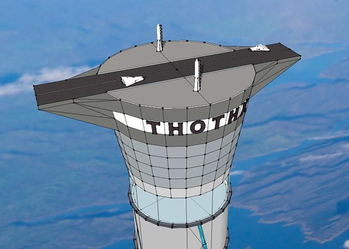 Thothx — проект 20-километровой надувной башни