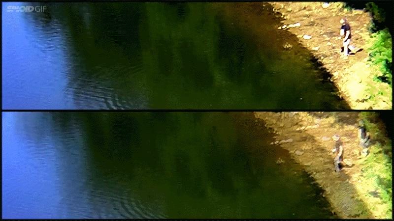 Мировой рекорд в бросании камня над поверхностью озера. 88 касаний